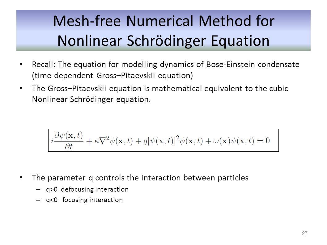 Mesh-free Numerical Method for Nonlinear Schrödinger Equation
