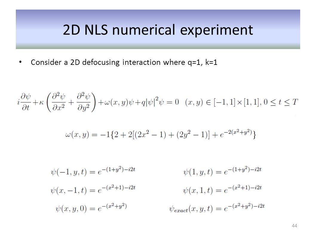 2D NLS numerical experiment