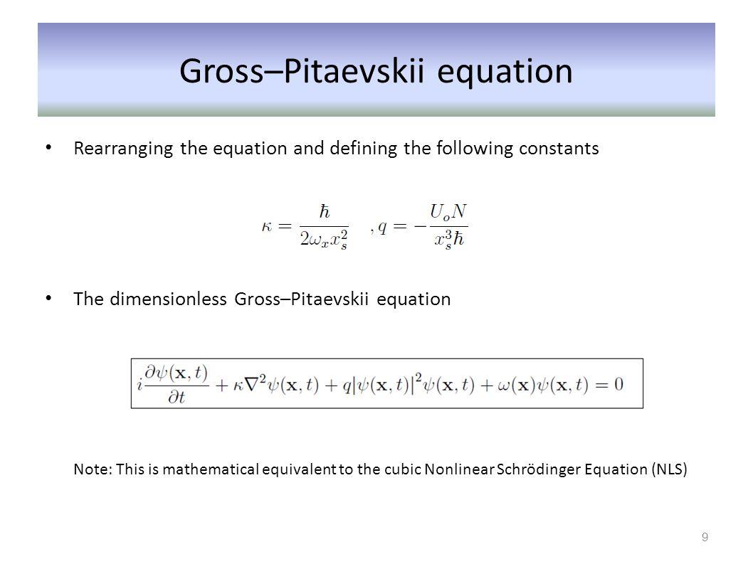Gross–Pitaevskii equation