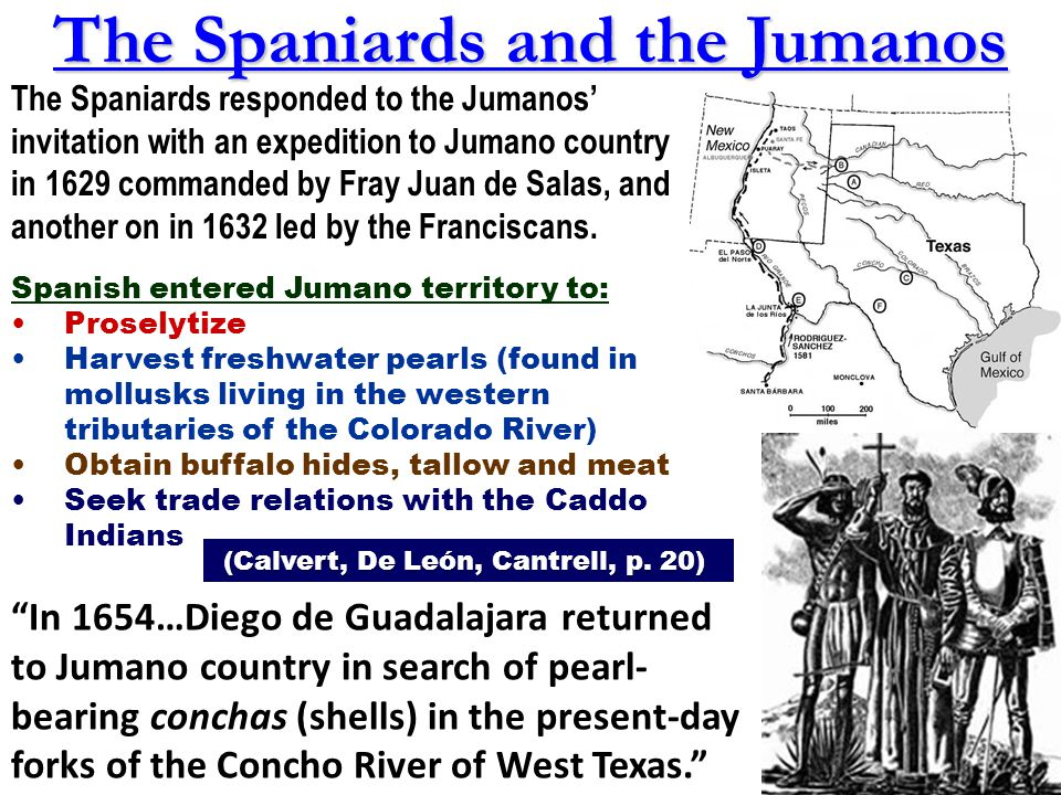The Spaniards and the Jumanos