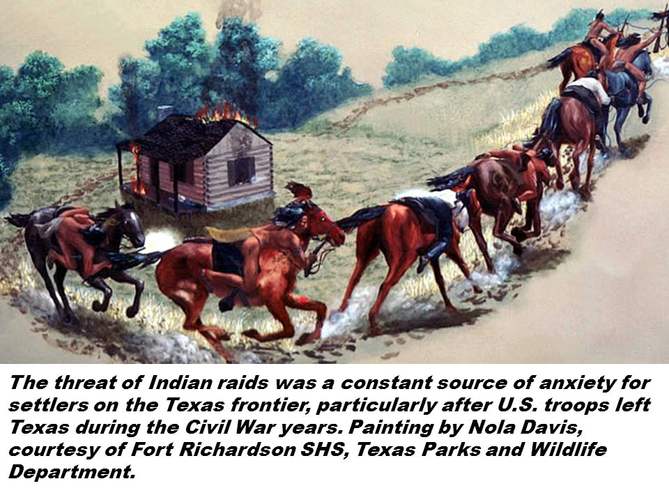 The threat of Indian raids was a constant source of anxiety for settlers on the Texas frontier, particularly after U.S.