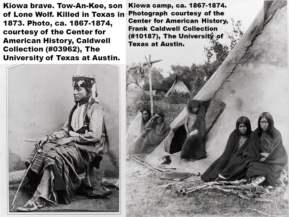 Kiowa brave. Tow-An-Kee, son of Lone Wolf. Killed in Texas in 1873