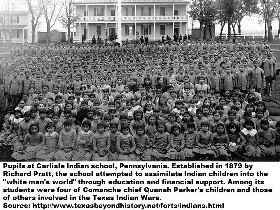 Pupils at Carlisle Indian school, Pennsylvania