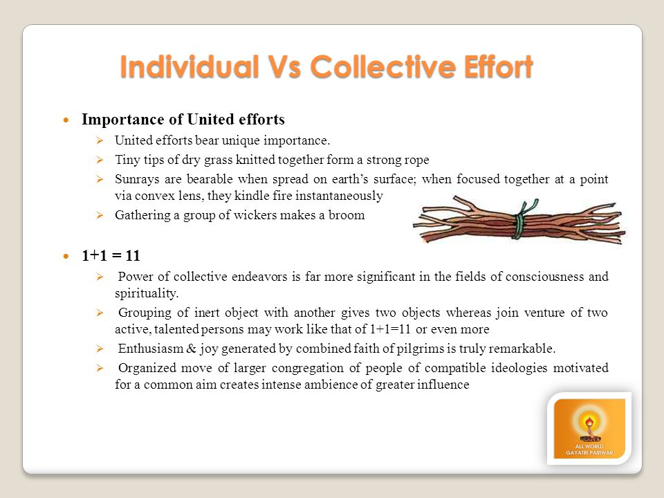 Individual Vs Collective Effort
