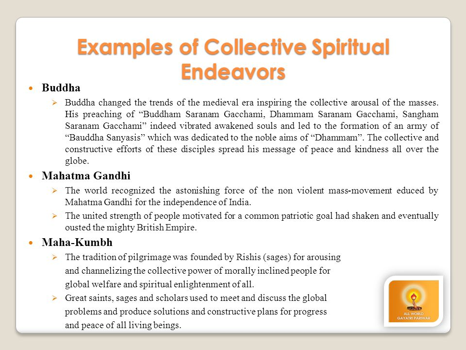 Examples of Collective Spiritual