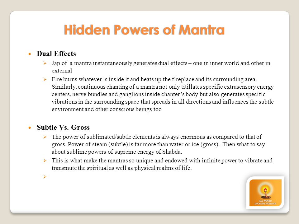 Hidden Powers of Mantra