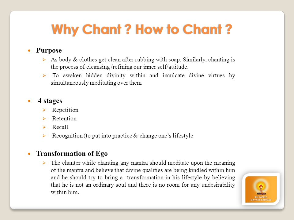 Why Chant How to Chant Purpose 4 stages Transformation of Ego