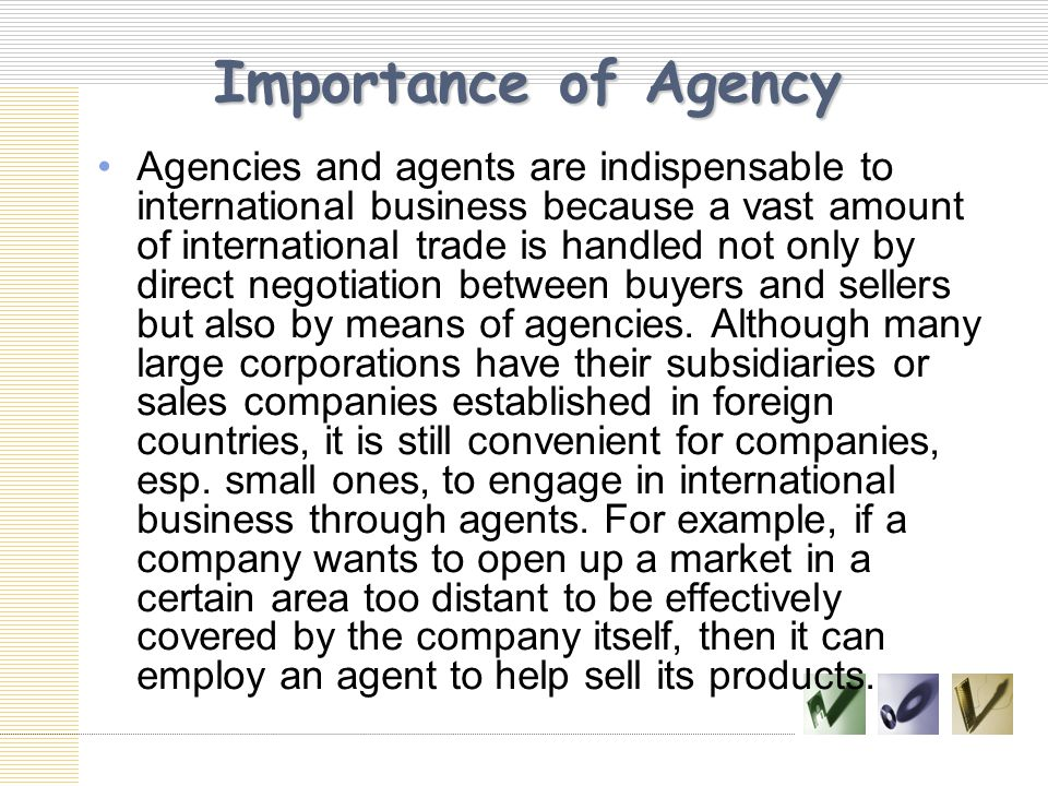 Importance of Agency