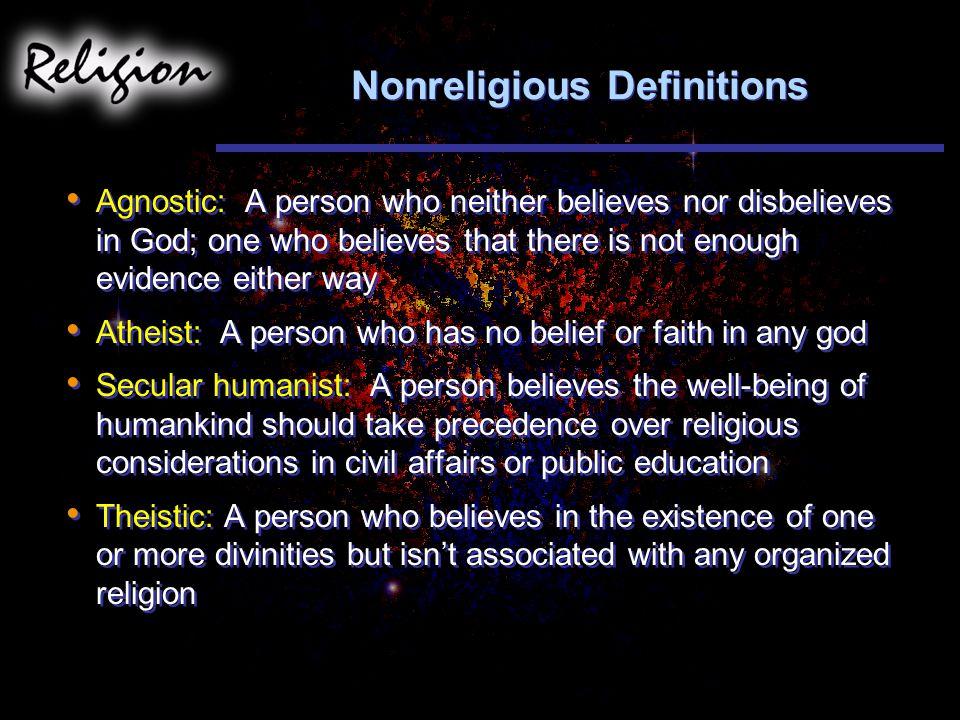 Nonreligious Definitions