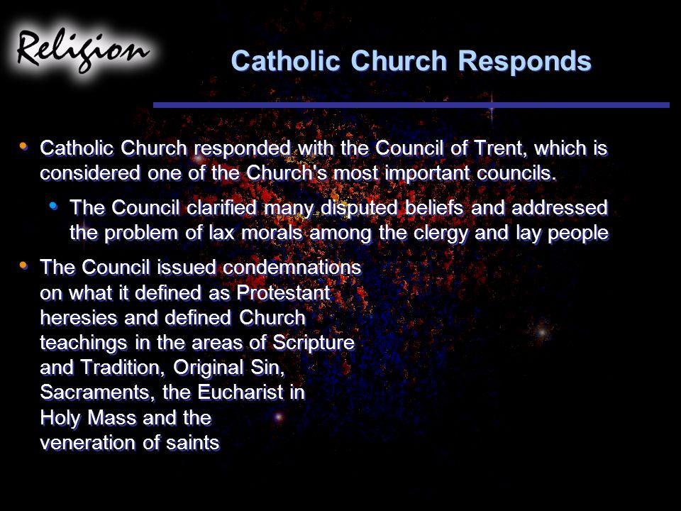 Catholic Church Responds