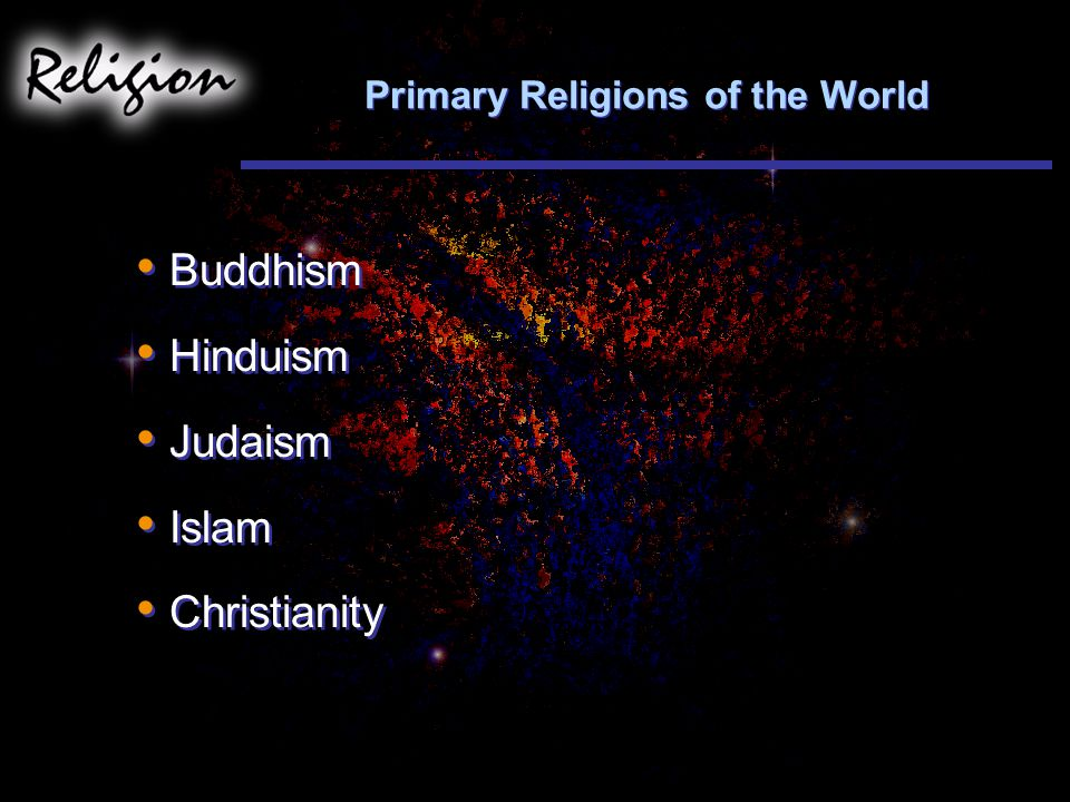 Primary Religions of the World