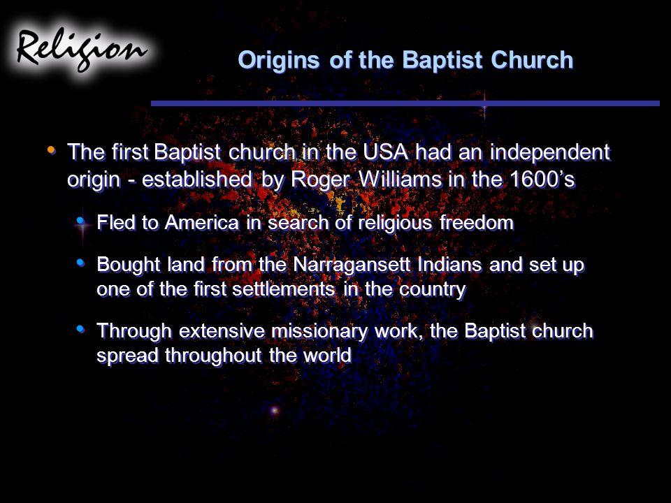 Origins of the Baptist Church
