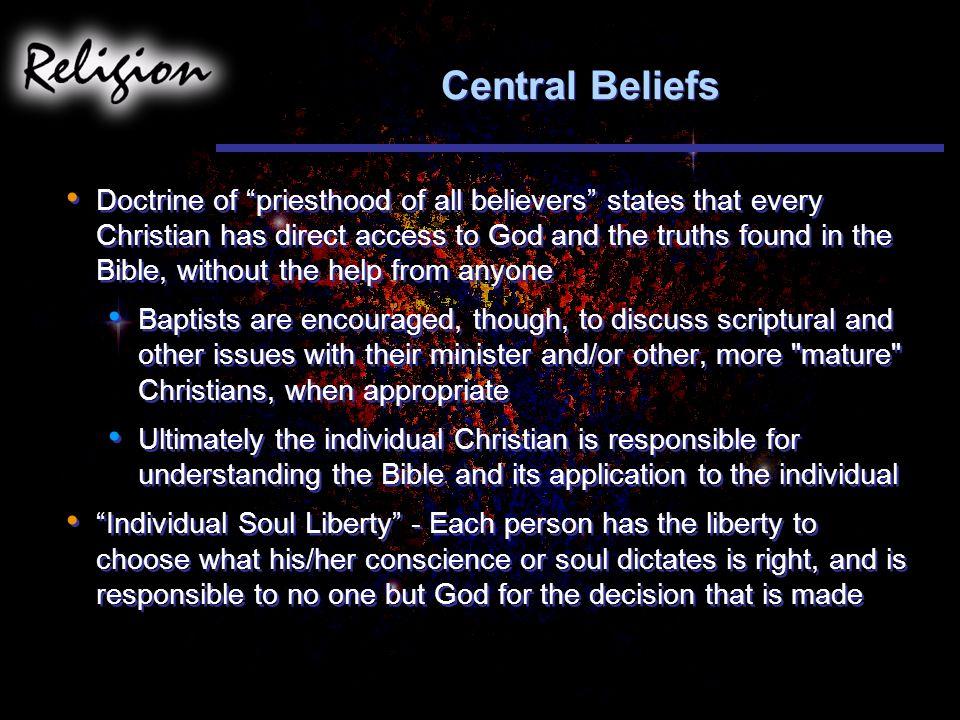 Central Beliefs