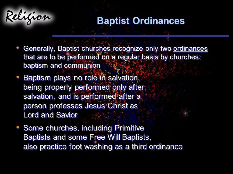 Baptist Ordinances