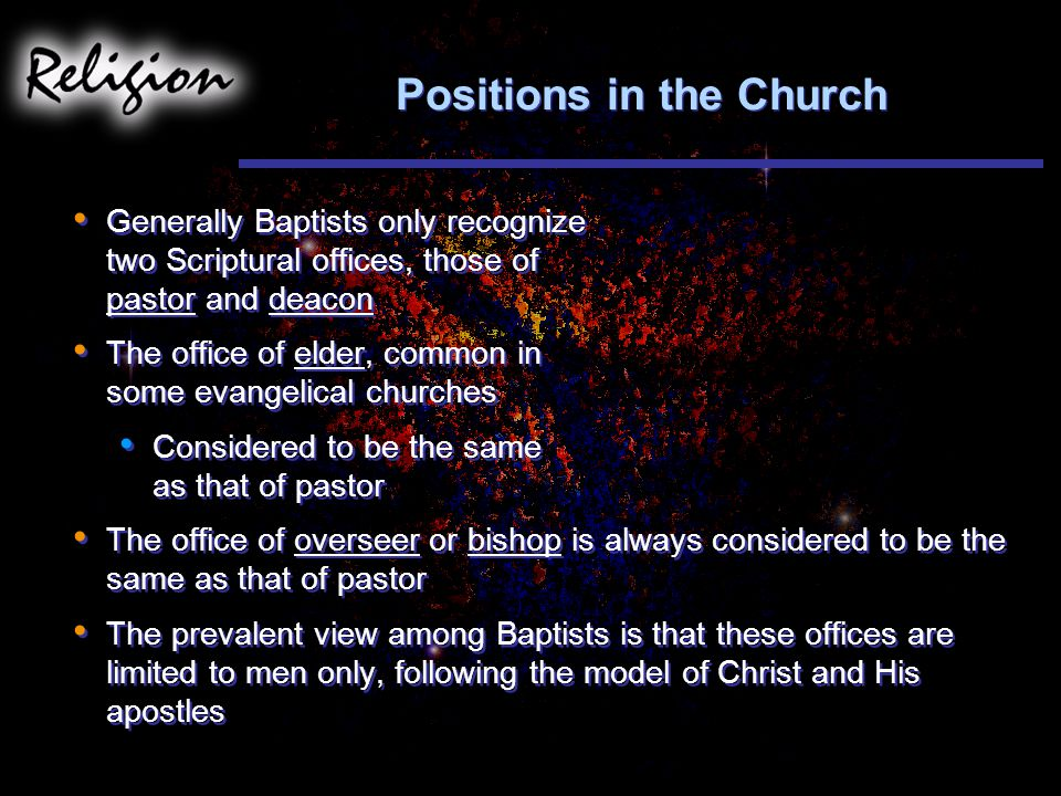 Positions in the Church