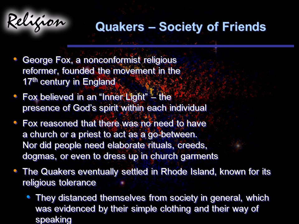 Quakers – Society of Friends
