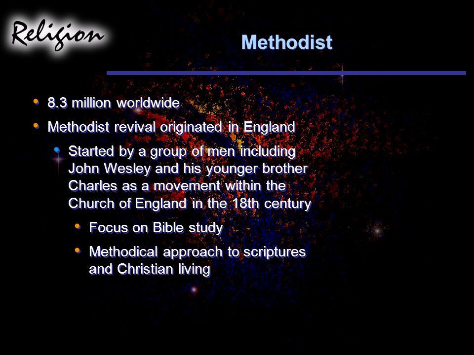 Methodist 8.3 million worldwide