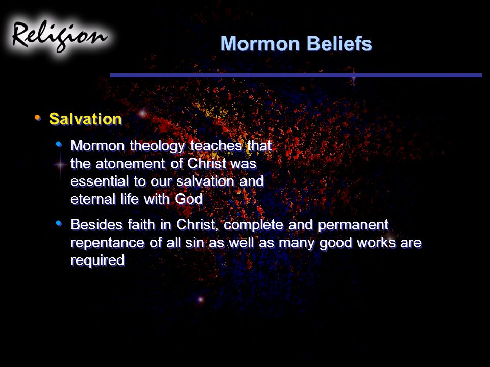 Mormon Beliefs Salvation