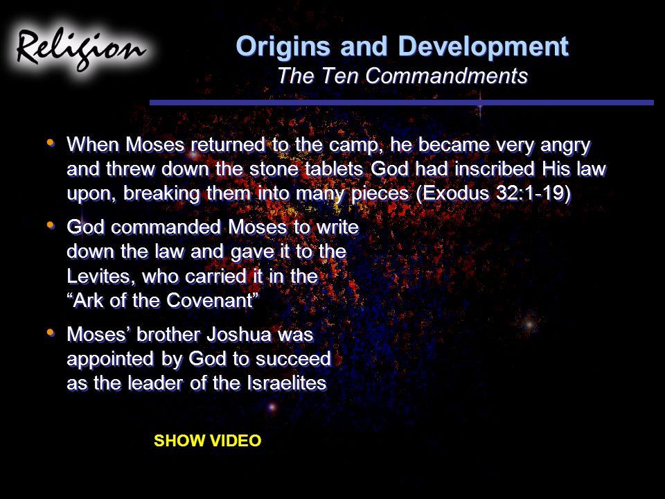 Origins and Development The Ten Commandments