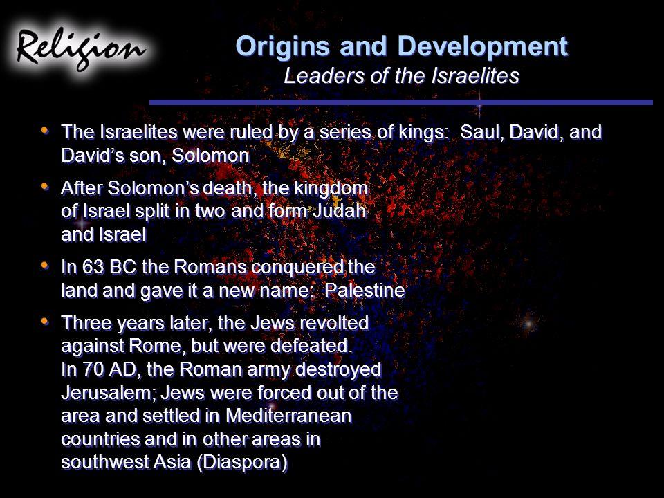 Origins and Development Leaders of the Israelites