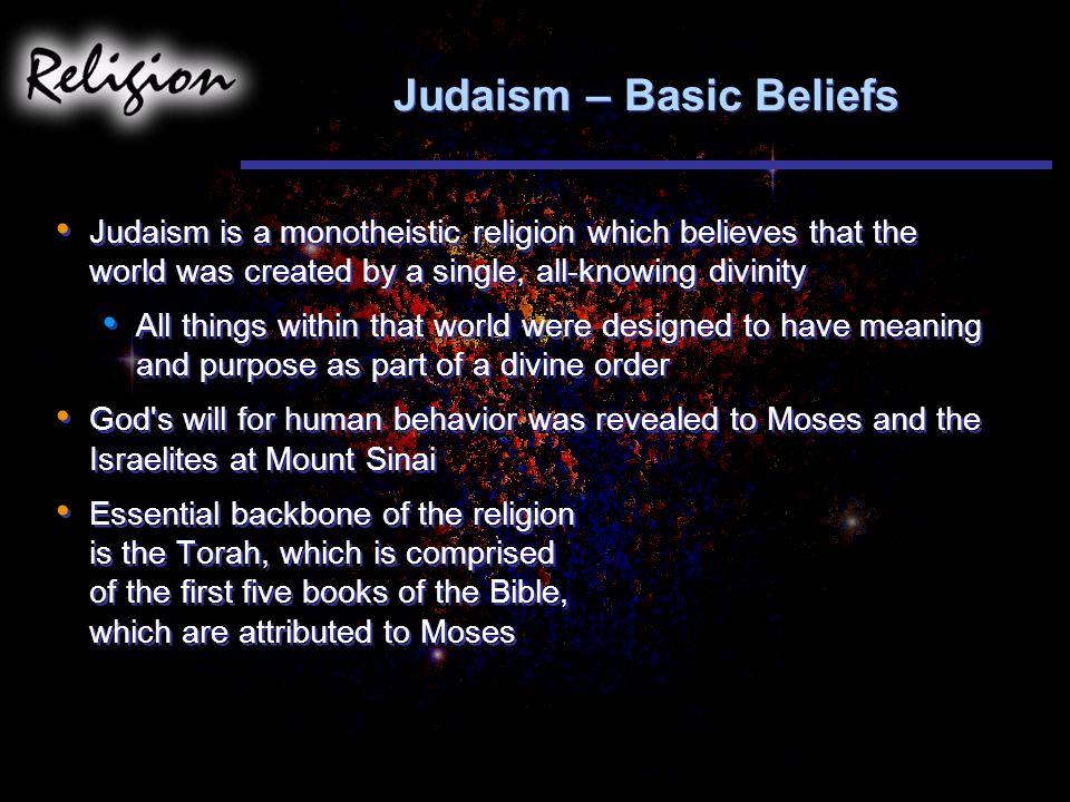Judaism – Basic Beliefs