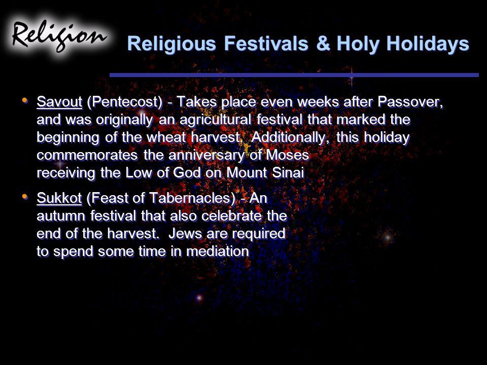 Religious Festivals & Holy Holidays