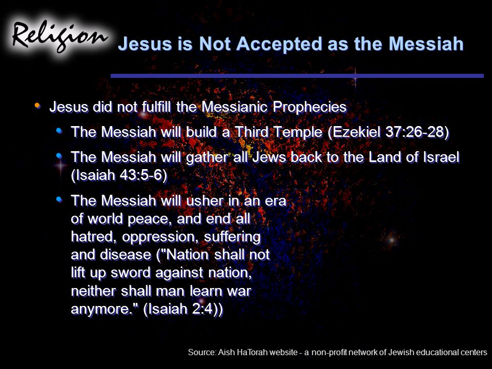 Jesus is Not Accepted as the Messiah