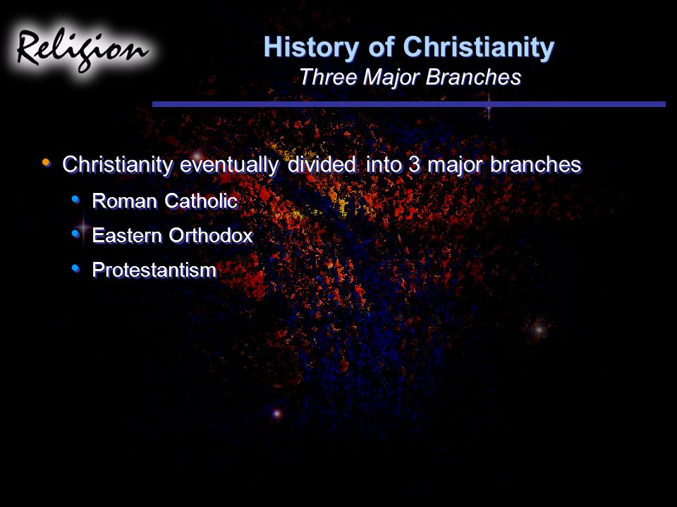 History of Christianity Three Major Branches