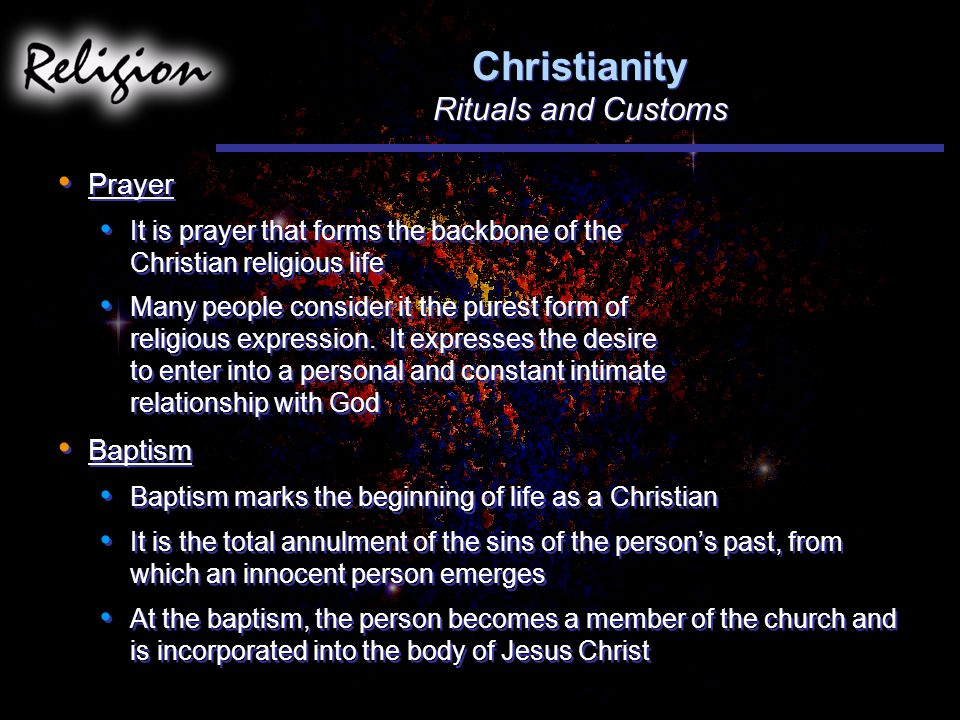 Christianity Rituals and Customs