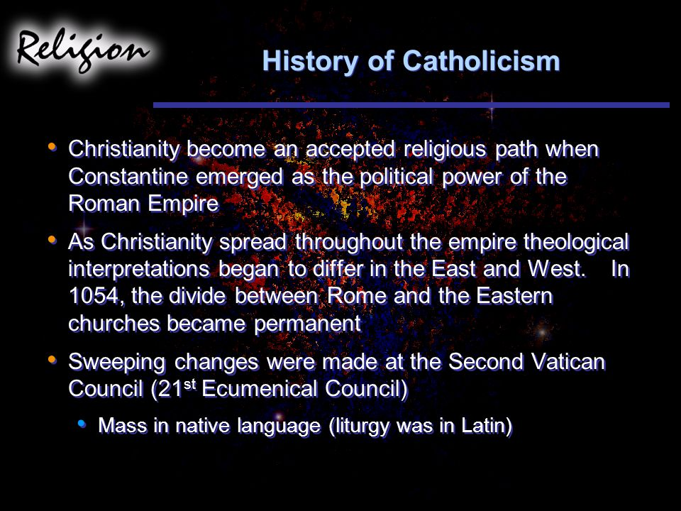 History of Catholicism