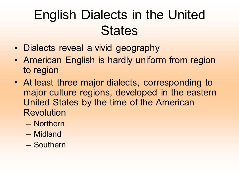 English Dialects in the United States