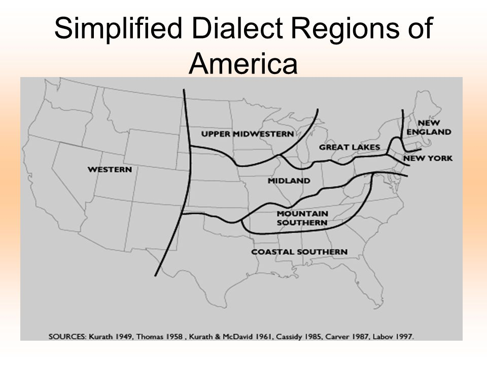 Simplified Dialect Regions of America