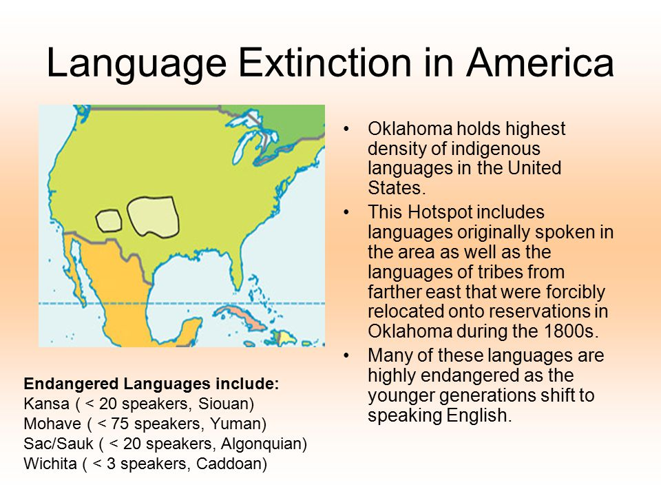 Language Extinction in America