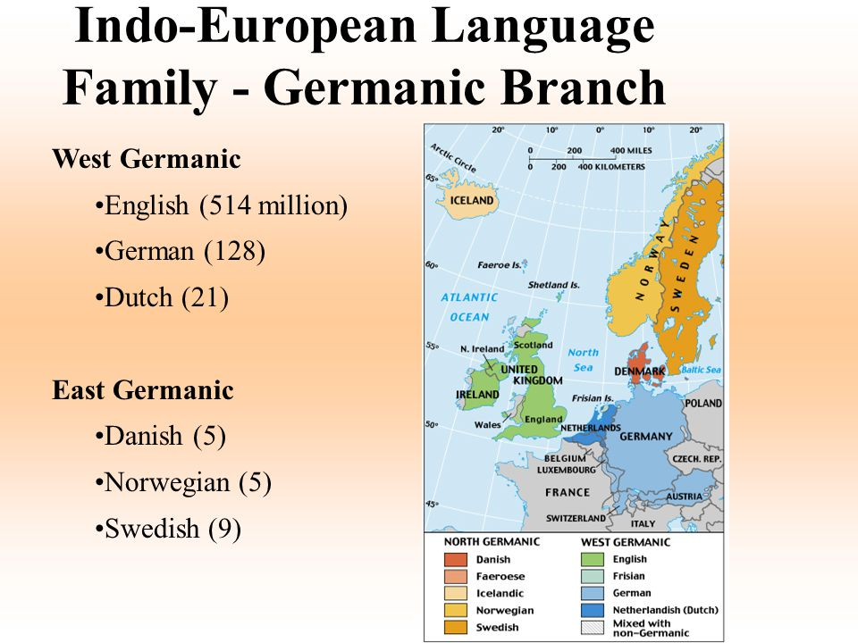 Indo-European Language Family - Germanic Branch