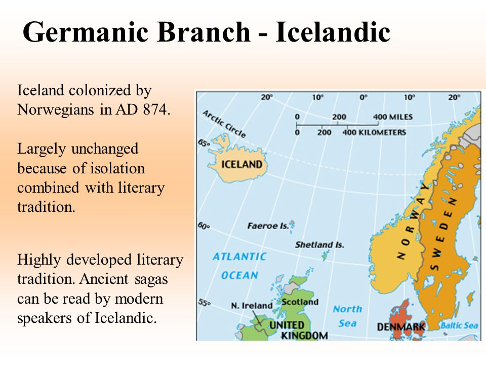 Germanic Branch - Icelandic
