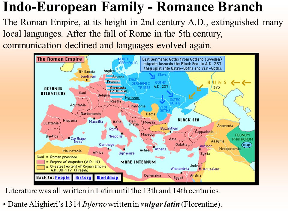 Indo-European Family - Romance Branch