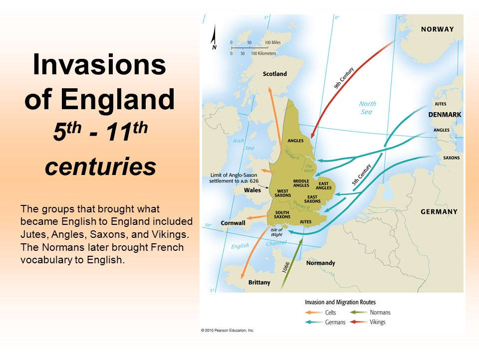 Invasions of England 5th - 11th centuries