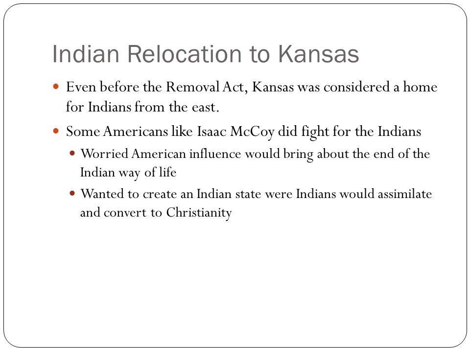 Indian Relocation to Kansas