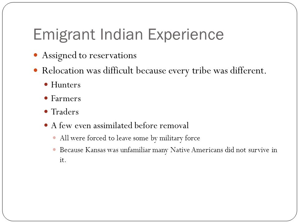 Emigrant Indian Experience