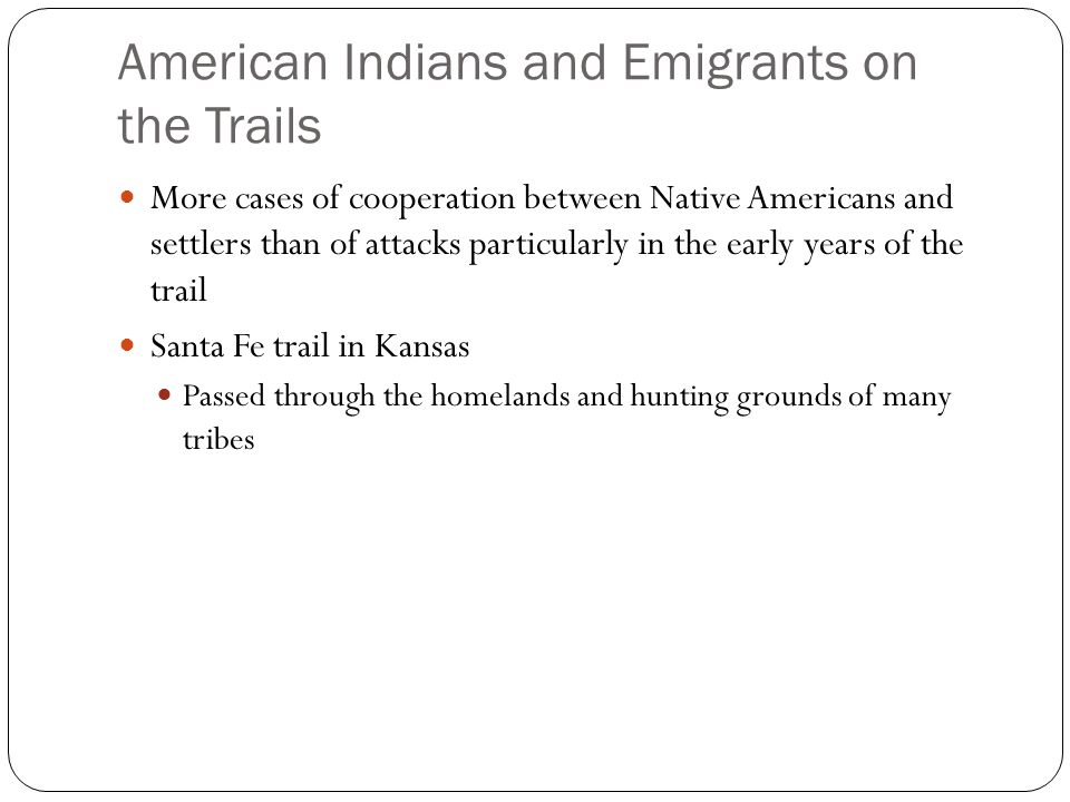 American Indians and Emigrants on the Trails
