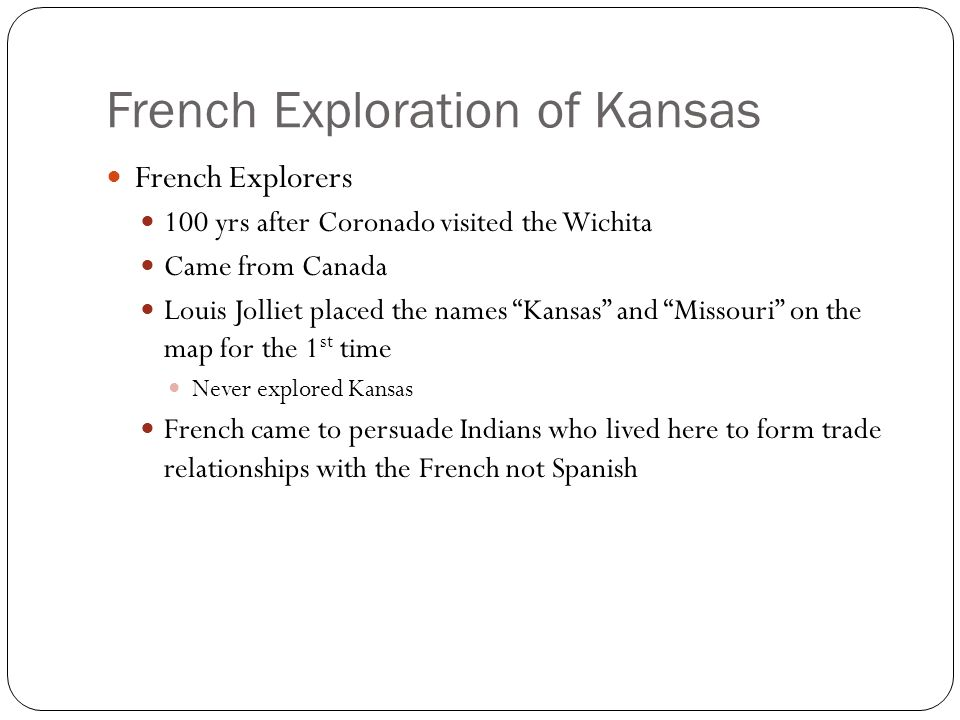 French Exploration of Kansas
