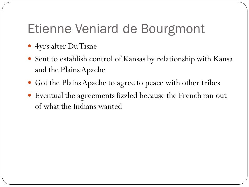 Etienne Veniard de Bourgmont