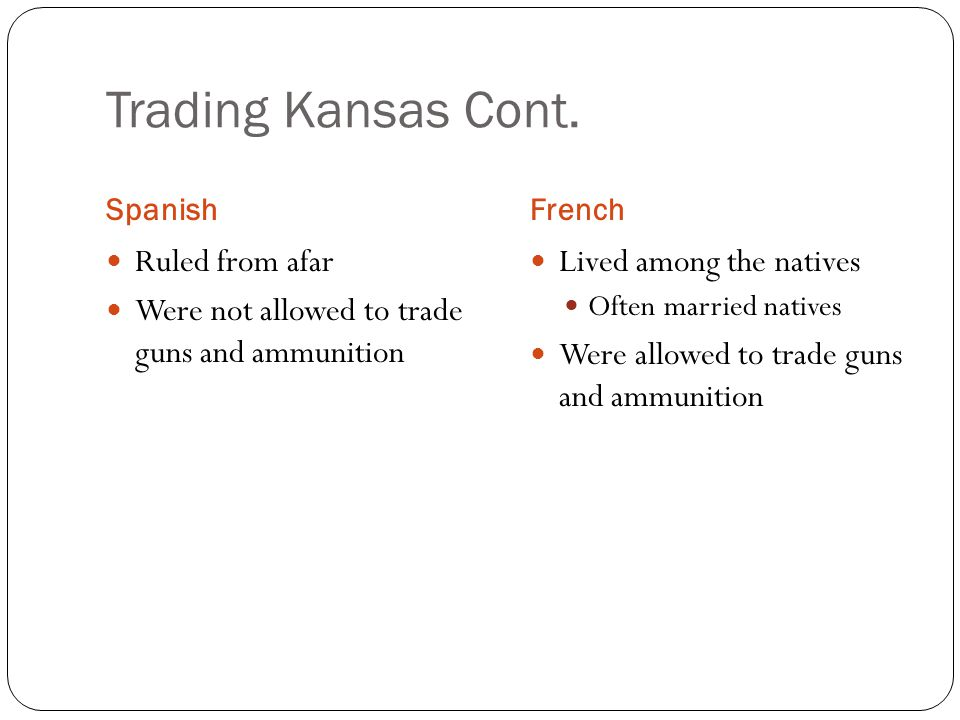 Trading Kansas Cont. Ruled from afar