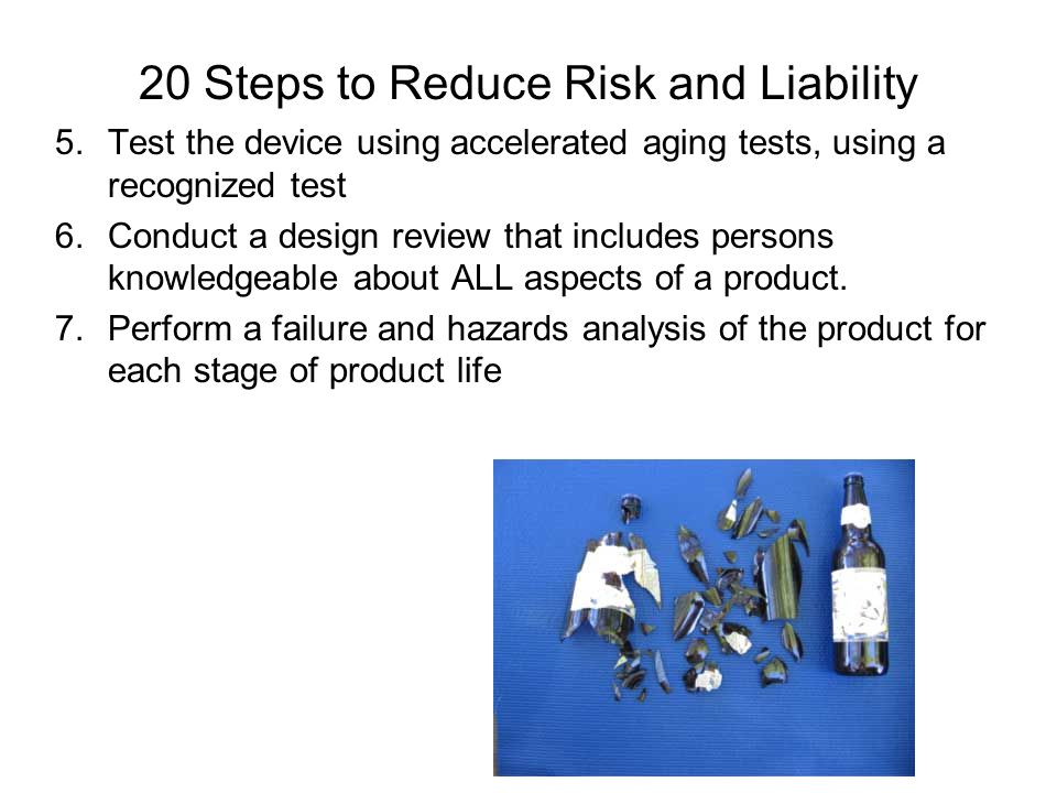 20 Steps to Reduce Risk and Liability