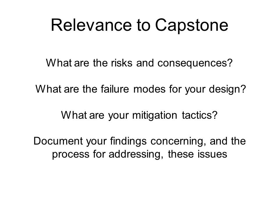 Relevance to Capstone