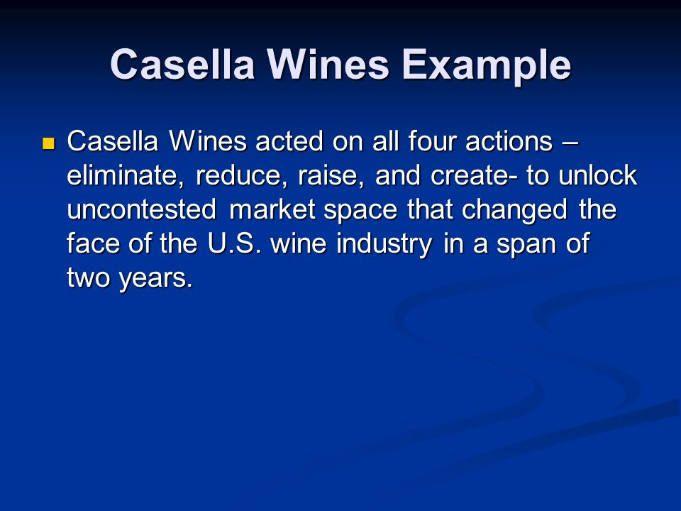 Casella Wines Example