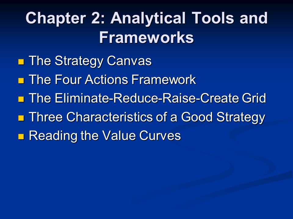 Chapter 2: Analytical Tools and Frameworks