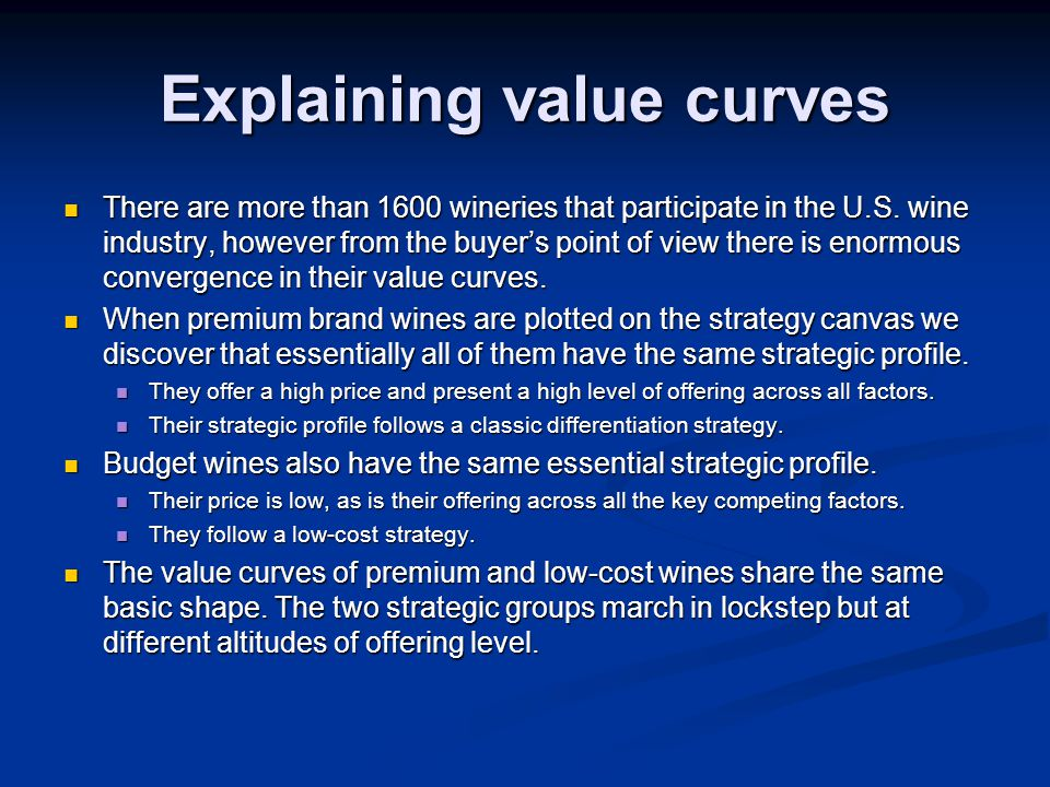 Explaining value curves