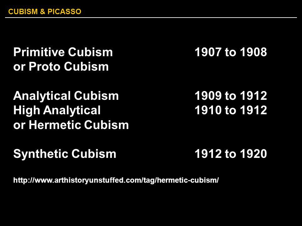 Primitive Cubism 1907 to 1908 or Proto Cubism
