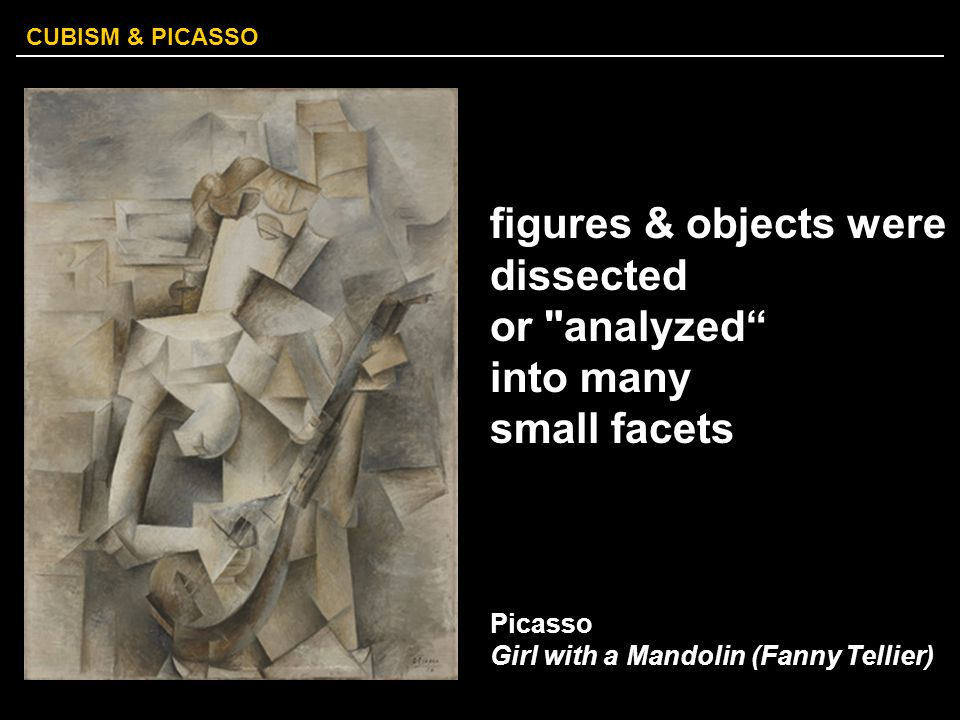 figures & objects were dissected or analyzed into many small facets